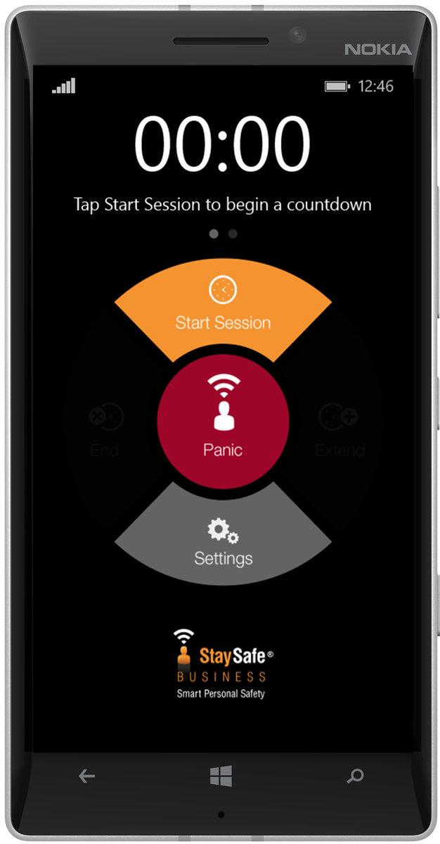 Image of out lone worker safety alarm app