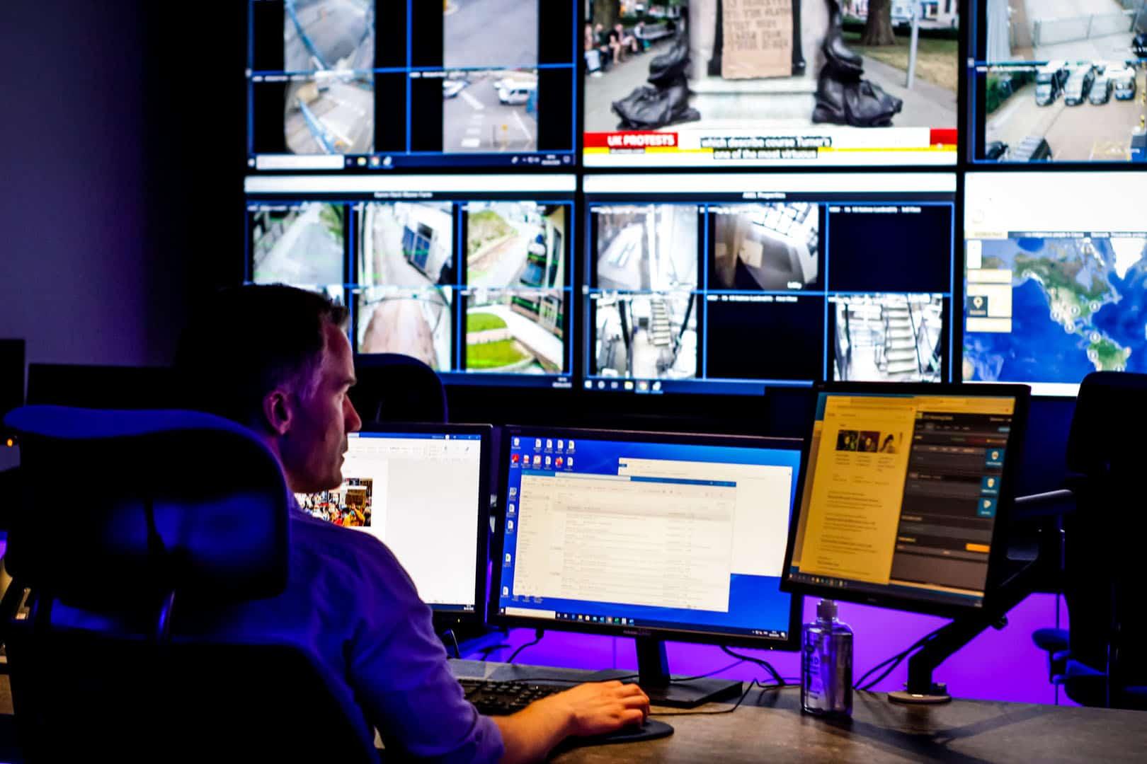 remote cctv monitoring control room image